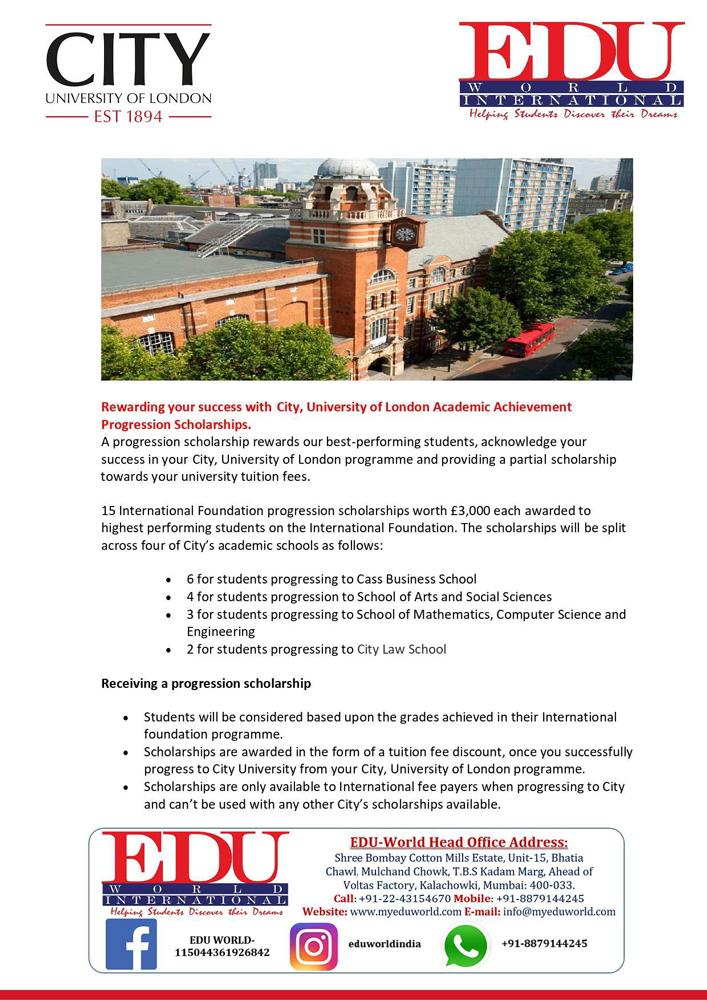 Scholarship---City,-University-of-London-progression-scholarships